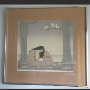 """🇨🇦 Vintage offset lithograph """"Paean"""" by W.Barnet"""